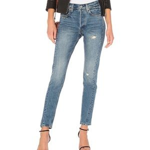 Levi's 501 altered high rise skinny jeans